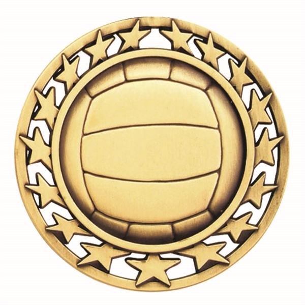 "2 1/2"" Volleyball Star Medallion"