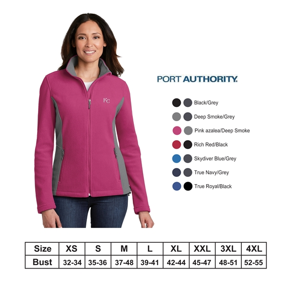 Port Authority?Ladies Colorblock Value Fleece Jacket