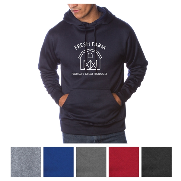 Independent Trading Company Men's Poly-Tech Pullover Hood...