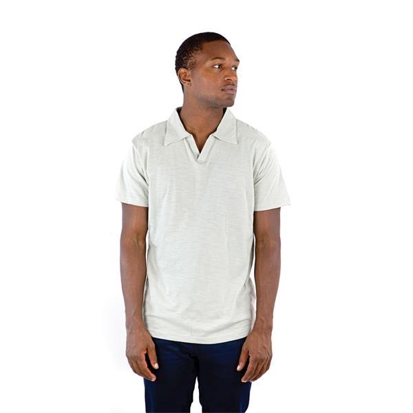 Men's Short Sleeve Slub Polo