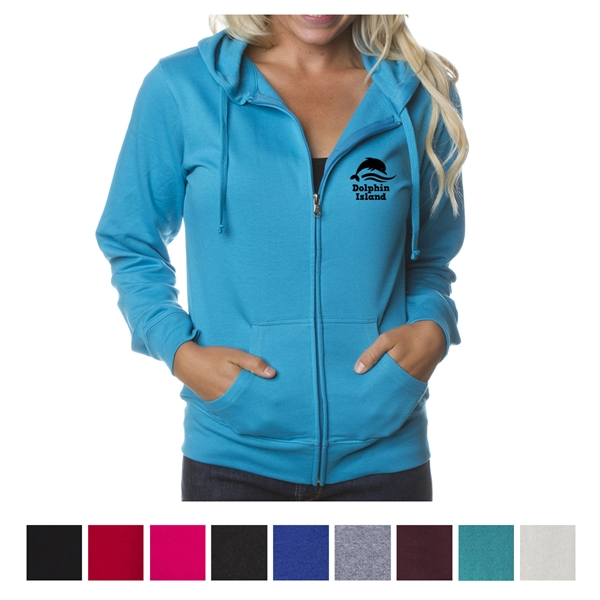 Independent Trading Company Juniors' Lightweight Zip Hood...