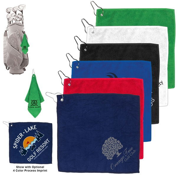 300GSM Microfiber Golf Towel with Metal