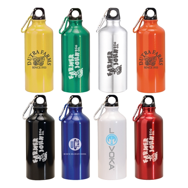 20 oz. Aluminum Water Bottle With Carabiner