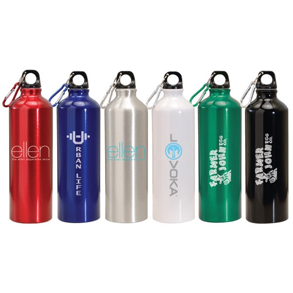24 oz. Aluminum Water Bottle w/Carabiner