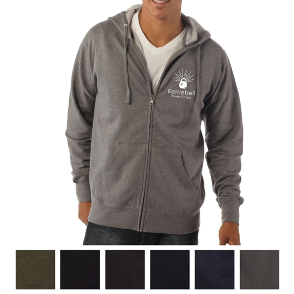 Independent Trading Company Men's Lightweight Zip Hooded ...