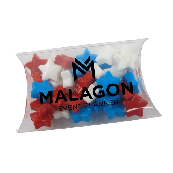 Small Pillow Acetate Box with Starzmania Candies