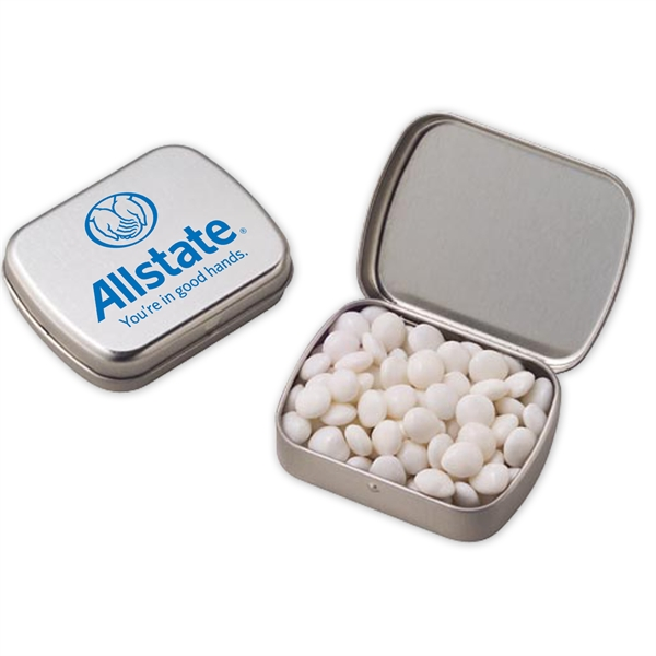 Small Hinged Tin with White Mints