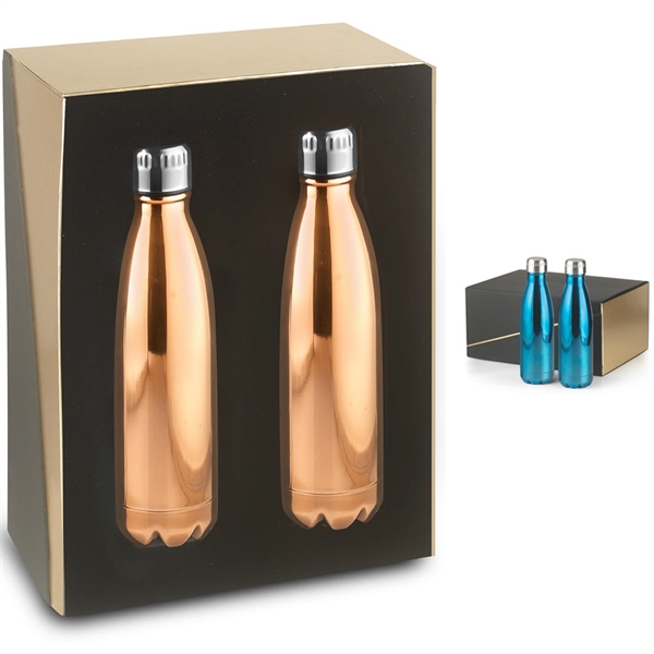 2- 17 oz Electroplated Serendipity Bottles Gift Set