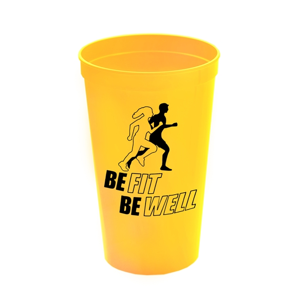 Cups-On-The-Go 22 oz Stadium Cups Solid Colors - Reusable and recyclable polypropylene 20 oz. stadium cup.