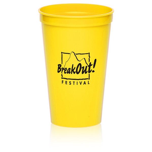 22 oz Plastic Stadium Cup