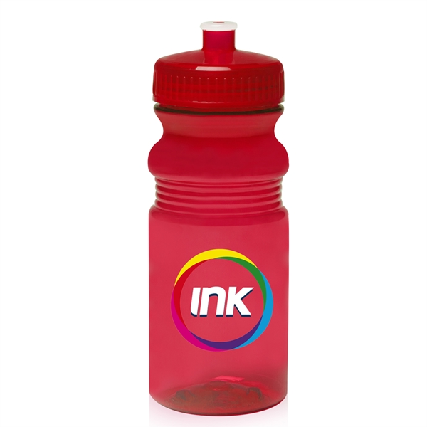 20 oz Push Cap Bike Water Bottle