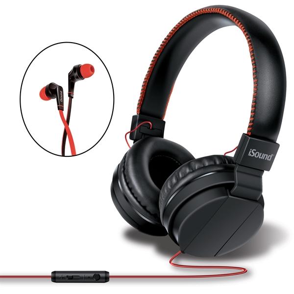 iSound Audio Pro Headphone & Earbud Combo