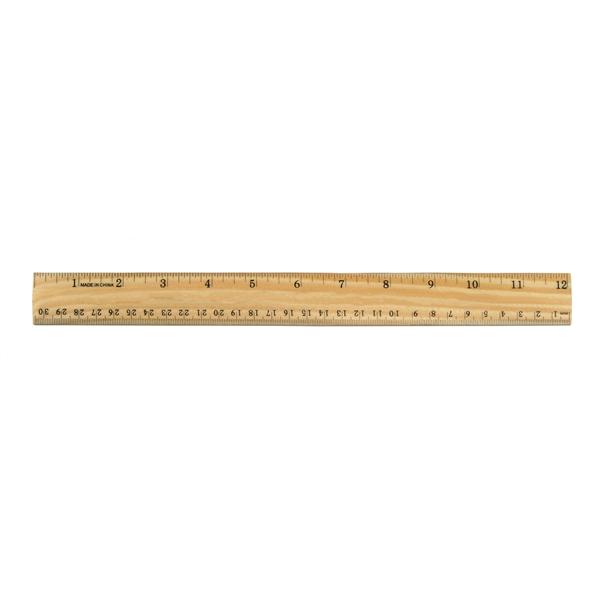 "12"" Wood Ruler"