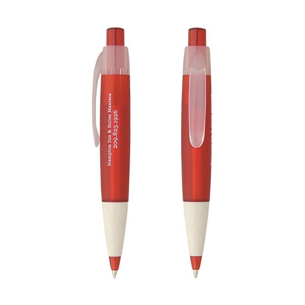 Clearance Item! Wide Barrel Clear Clip Pen