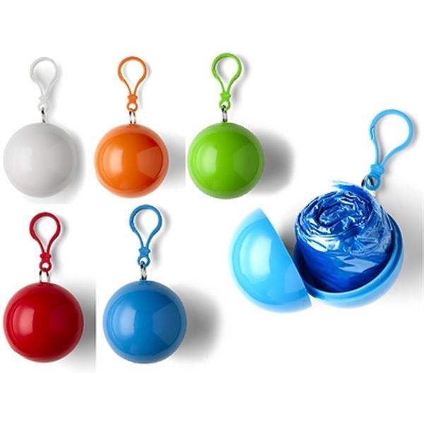 Raincoat Ball Poncho Keychain