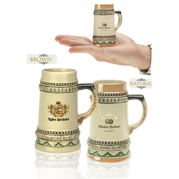 2 oz. Bremen Mini Ceramic Beer Mug Shooters