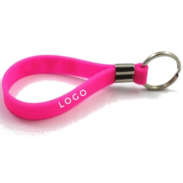 Custom Silicone Wristband Keychain