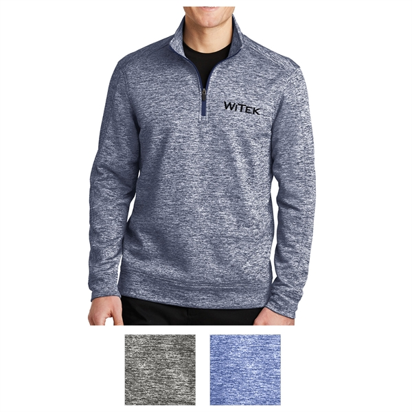 Sport-Tek PosiCharge Electric Heather Fleece 1/4-Zip Pull...