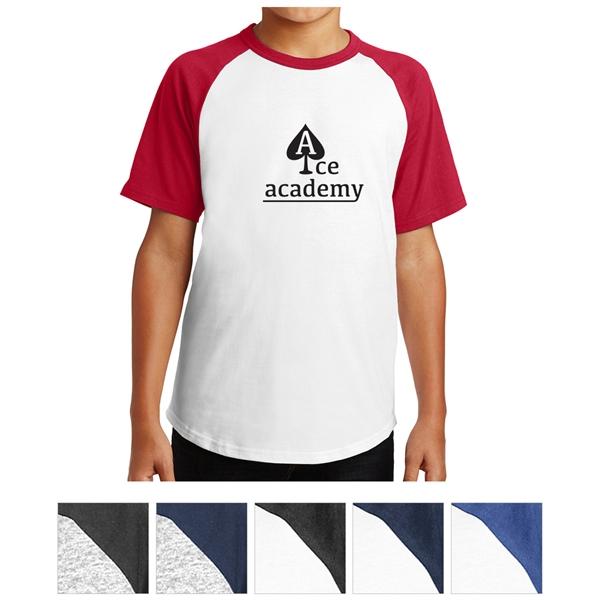 Sport-Tek Youth Short Sleeve Colorblock Raglan Jersey
