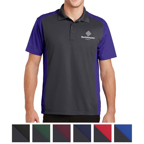Sport-Tek Colorblock Micropique Sport-Wick Polo