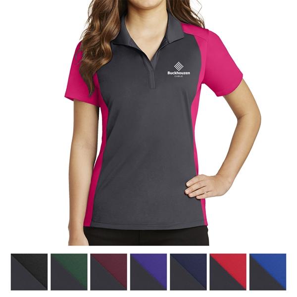 Sport-Tek Ladies' Colorblock Micropique Sport-Wick Polo