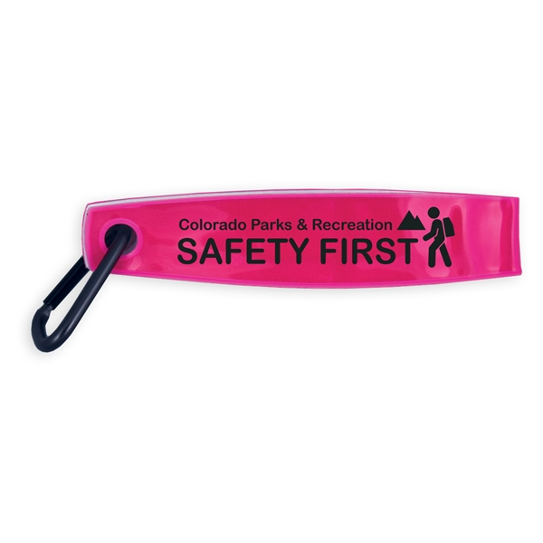 Reflective Safety FOB with Carabiner