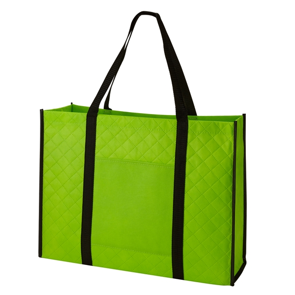 Quilted Non-Woven Tote-Closeout