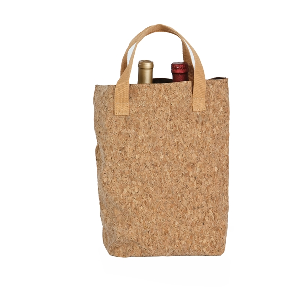 Cork Tote Double Bottle Bag