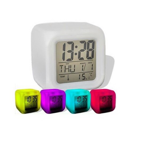7 Color Change Digital Alarm Clock