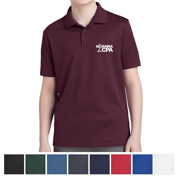 Sport-Tek Youth PosiCharge RacerMesh Polo