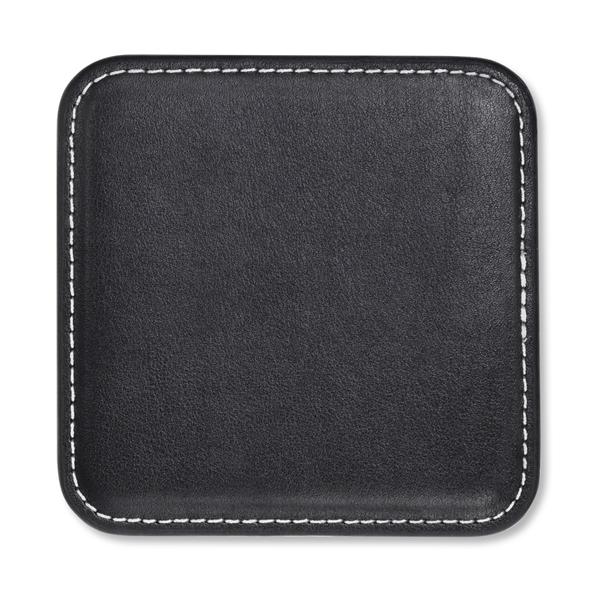 Vintage Leather Square Coaster