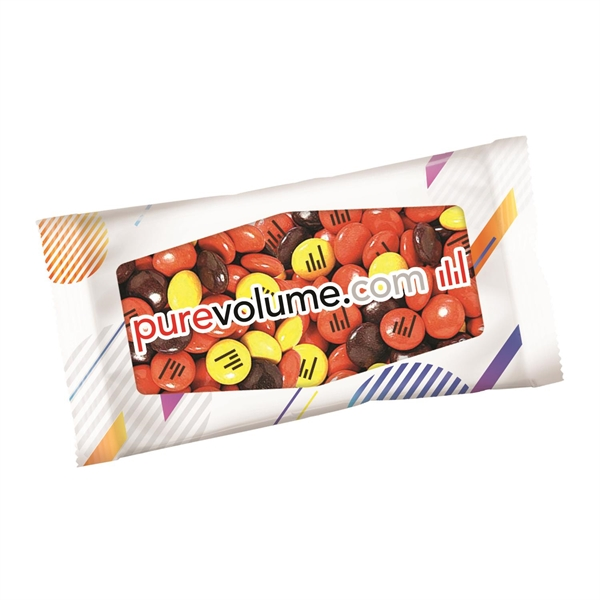 1 oz. Full Color DigiBag with Imprinted Reese's Pieces