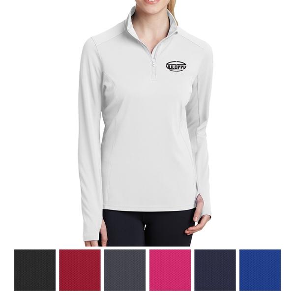 Sport-Tek Ladies' Sport-Wick Textured 1/4-Zip Pullover