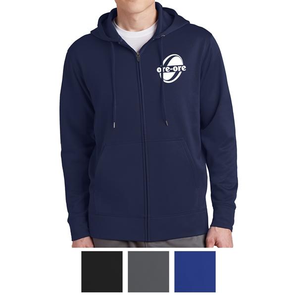 Sport-Tek Sport-Wick Fleece Full-Zip Hooded Jacket