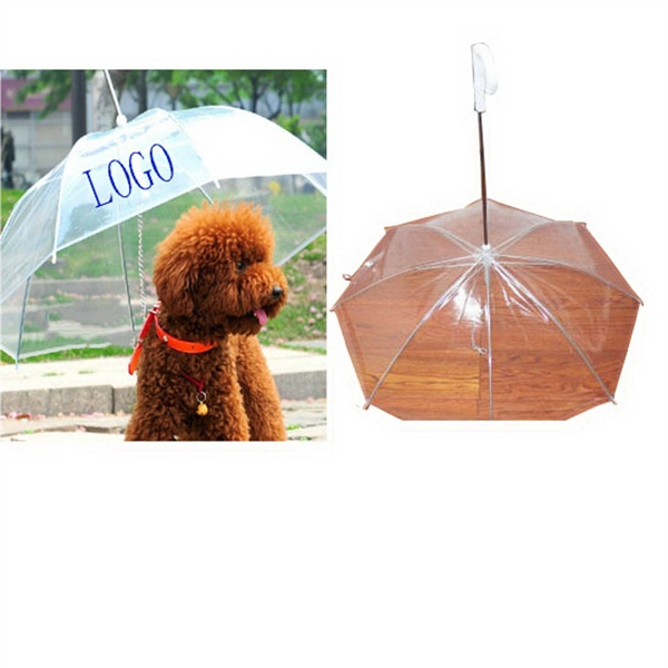 Transparent Protective Pet or Dog Umbrella