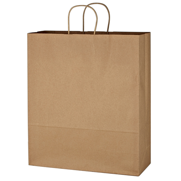 """Kraft Paper Brown Shopping Bag - 16"""" x 19"""""""