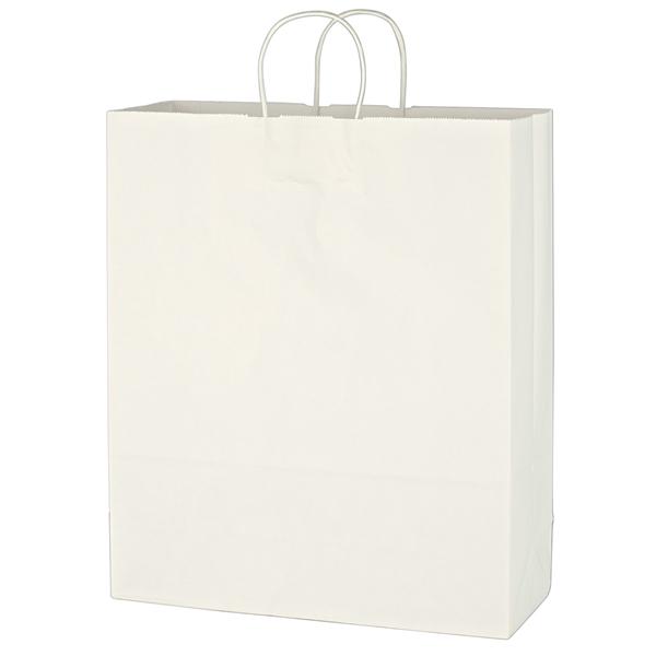 "Kraft Paper White Shopping Bag - 16"" x 19"""