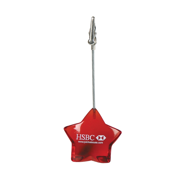 Clearance Item! Star Memo Holder With Steel Clip