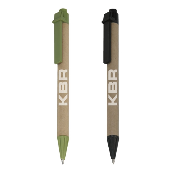 Recycled Paper Cardboard Click Pen