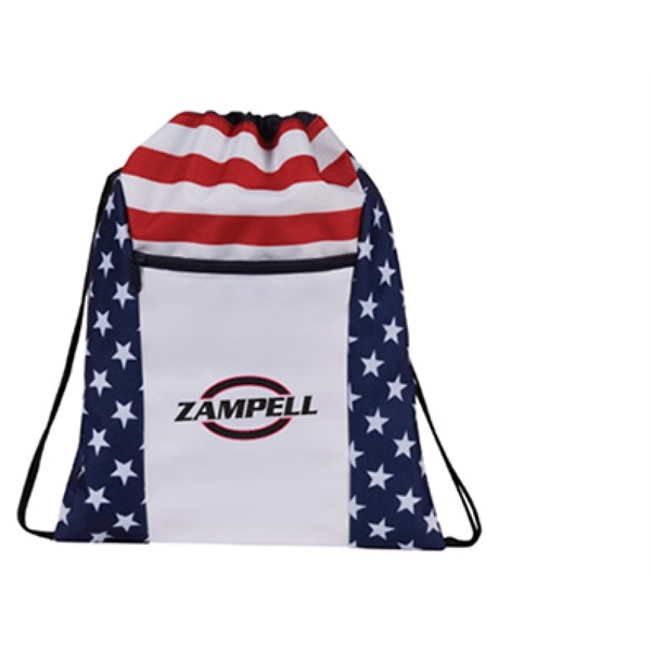 Patriotice Drawstring Backpack