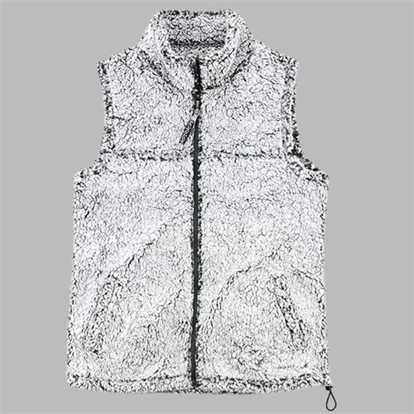 Girls Full Zip Sherpa Vest