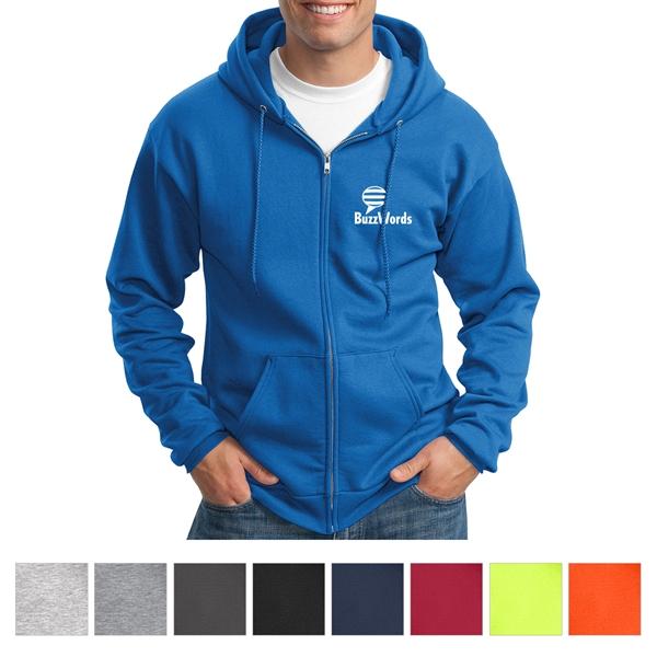 Port & Company Tall Essential Fleece Full-Zip Hooded Swea...