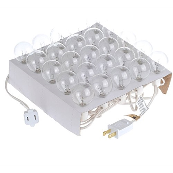 25Ft LED G40 String Lights with 25 LED Warm Globe Bulbs-UL L
