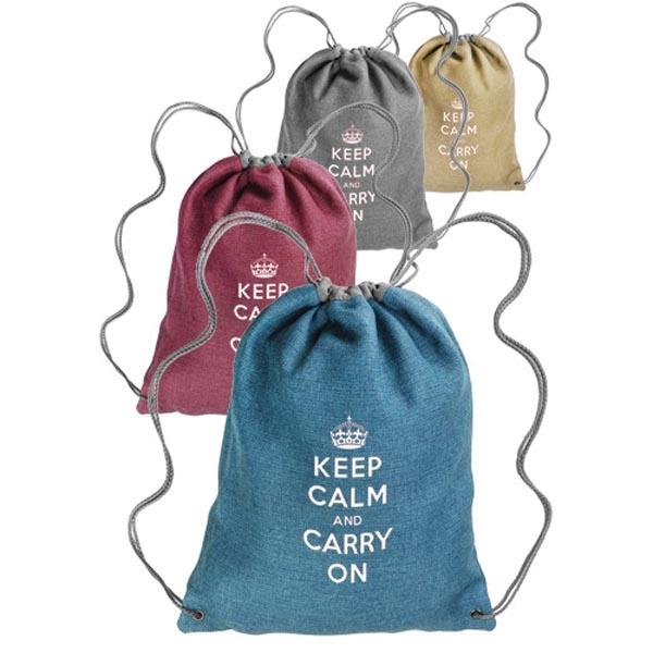 Cromwell Linen Drawstring Backpacks