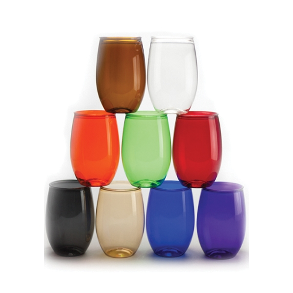 16 oz. Plastic Stemless Wine Glasses