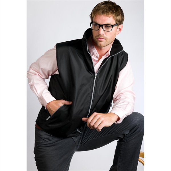 Men's Nylon Vest with Contrast Zipper