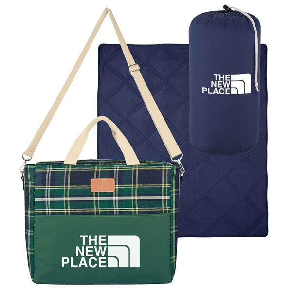 Tartan Kooler Bag With Deluxe Blanket