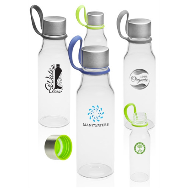 17 oz. Glass Water Bottles with Carrying Strap