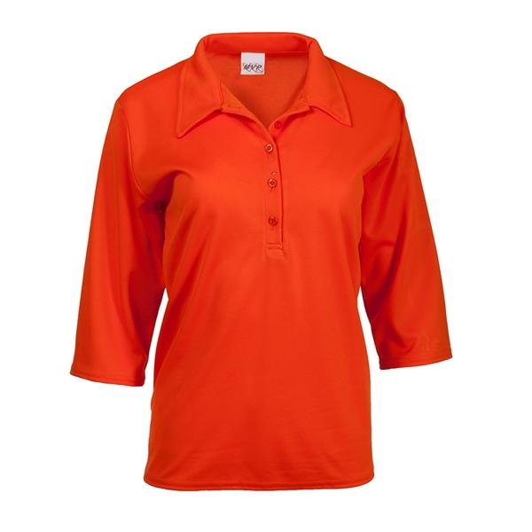 3/4 sleeve ladies polo shirt