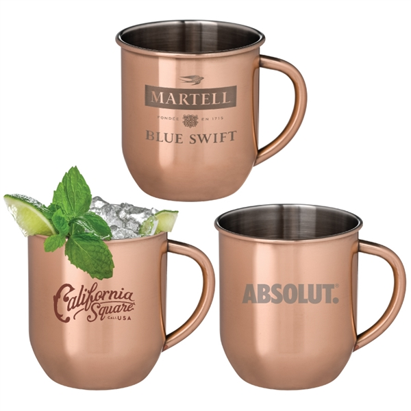 Mosconi Copper Plated Moscow Mule Mug
